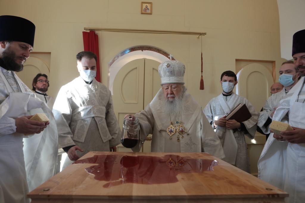 Освящение храма в Маслово